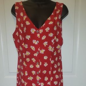 90's Retro Sunflower Smocked Dress